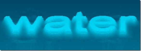 Mr doob fonts in water